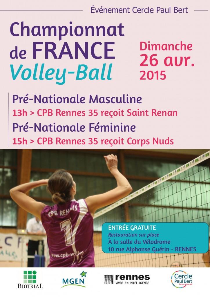 Affiche 13 - A3 matchs 26-04 St Renan-Janzé Corps